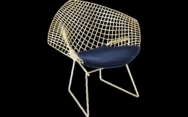 Bertoia Diamond Chair – Gold